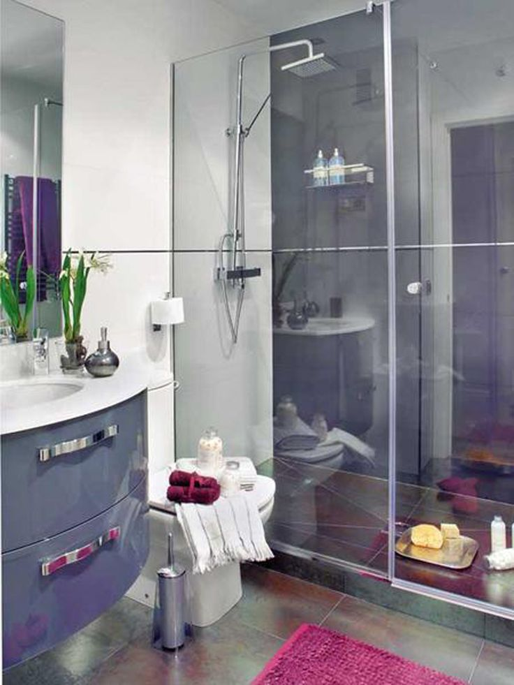 Best Purple Bathrooms Images On Pinterest Bathrooms Decor - Purple bathroom decor for small bathroom ideas