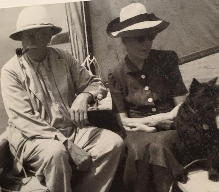 With Toni Wolff, 1888-1953, while sailing on Lake Zürich