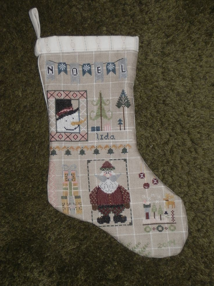 Christmas stocking made in December 2014