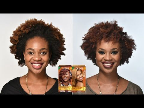 NEW HAIR COLOR!! | Creme of Nature Red Hot Burgundy & Honey Blonde - YouTube
