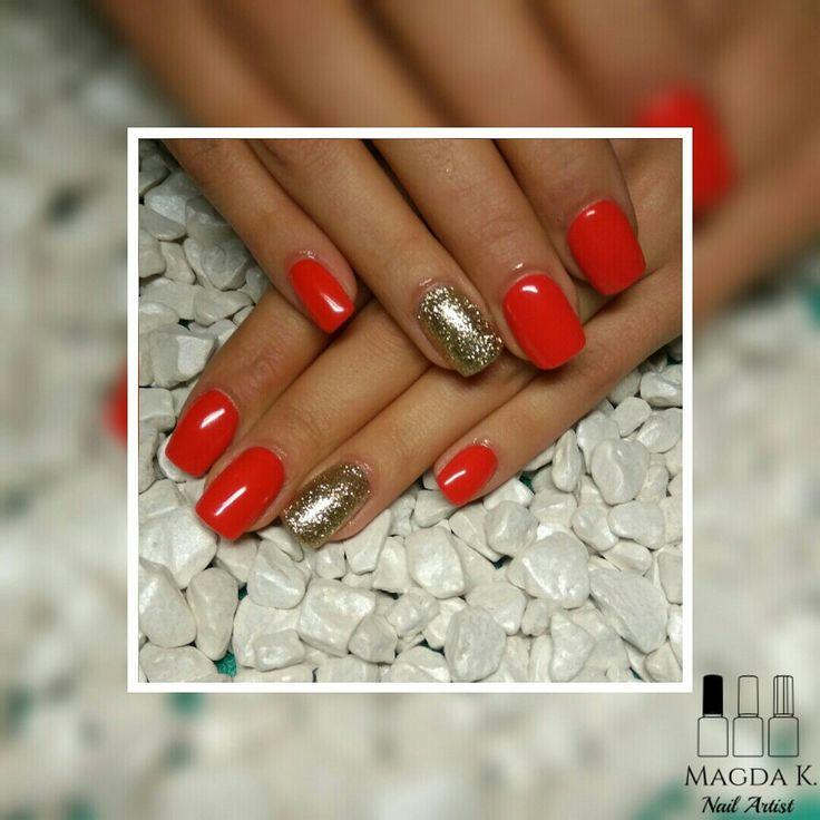 #magdaKnails #magdaKnailArtist #acrylicnails #red #passion #rednails #gold #lovenails