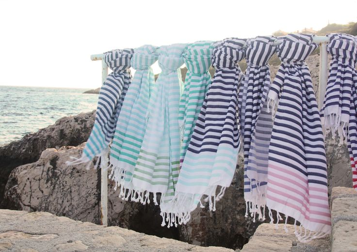Atolyia Sheker Candy Stripe Turkish towel collection!