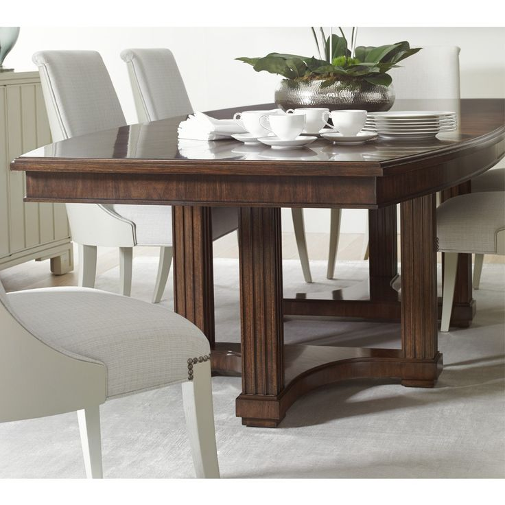 Stanley Furnitureu0027s Mid Century Style Crestaire Dining Table Set By Humble  Abode Includes The Lola