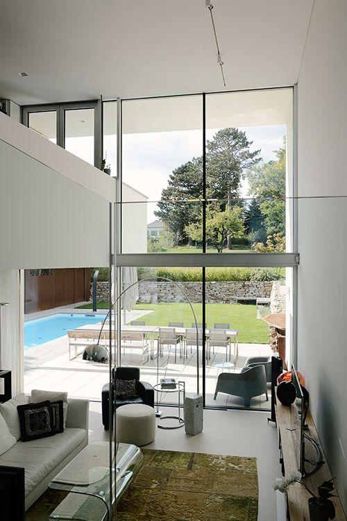 Modern Living Room Design Idea In A Stylish Villa Located Near Vienna By Architekt Zoran Bodrozic