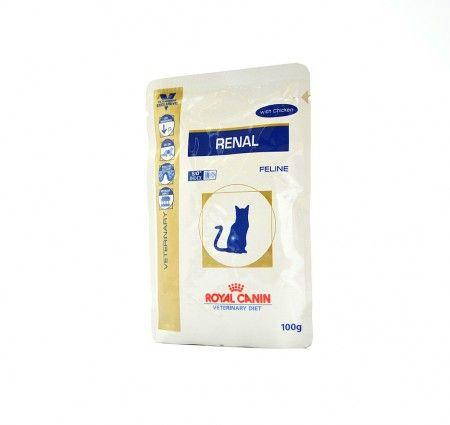Royal Canin Feline RENAL with Chicken. Dieta RENAL z Kurczakiem to pełnoporcjowa dietetyczna karma dla kotów poprawiająca funkcjonowanie nerek w przypadkach przewlekłej lub ostrej niewydolności tego narządu. Dzięki niskiej zawartości fosforu oraz białek charakteryzuje ją wysoka jakość.