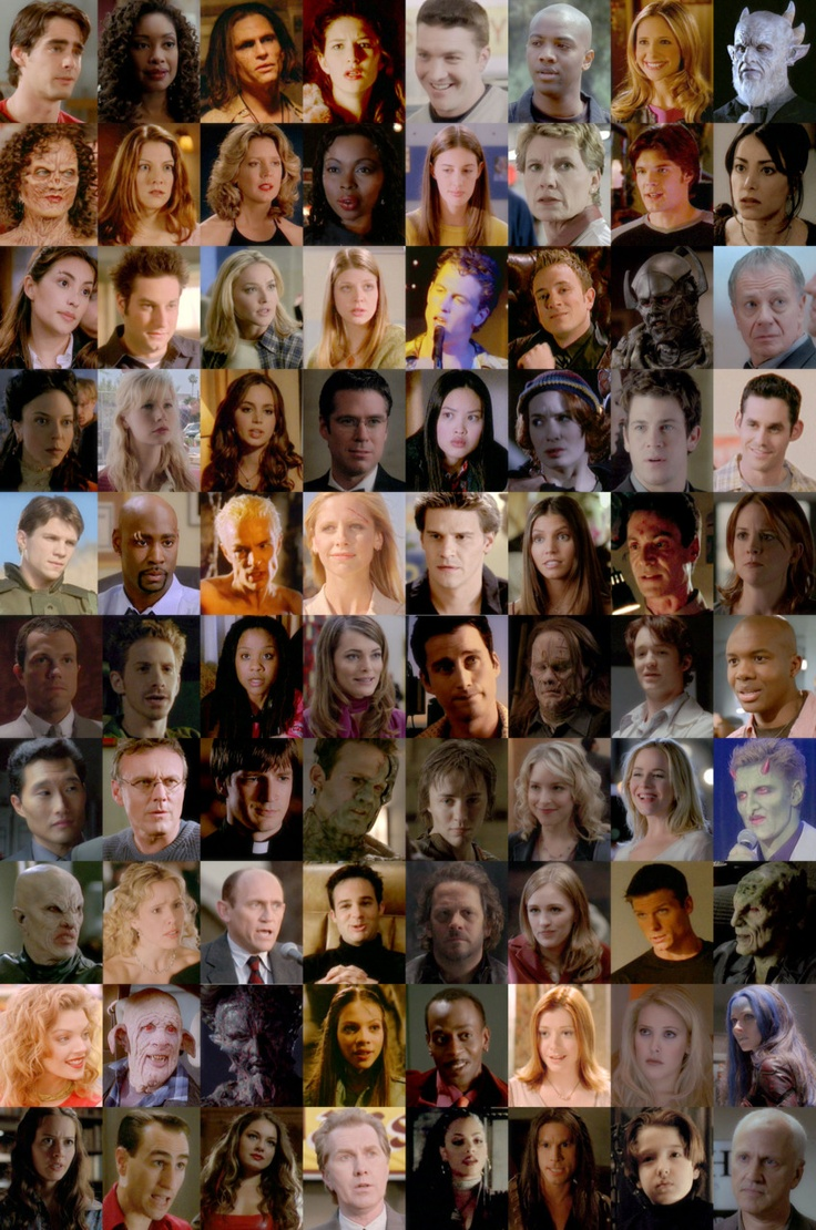 Buffyverse Everyone From Buffy The Vampire Slayer