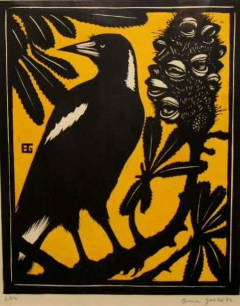 Bruce Goold -  Currawong and Banksia (1986)