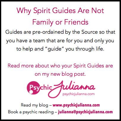 Read my new blog about YOUR spirit guides on my website - psychicjulianna.com  Xx Psychic Julianna