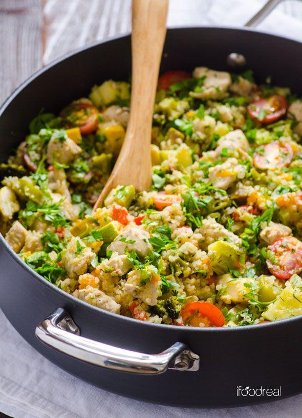 principal-pollo-jardín-verduras-quinua-guiso-receta