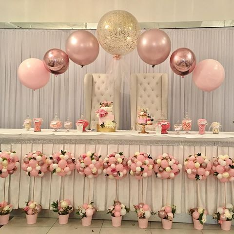 """""""The meaning of life is to find your gift. The purpose of life is to give it away""""-William Shakespeare       #ballooncentrepiece #balloondecoration #christening #pink #tablecentrepiece #quirkyballoons #sydneyballoons #instaparty #pinkballoons #rosegold #orbz #shakespeare #quotes #quoteoftheday"""