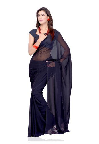 Ethnic Indian Women Sari Designer Wear Plain Black by Fabdeal, http://www.amazon.ca/dp/B00GMJE8CY/ref=cm_sw_r_pi_dp_oBOptb1351QP1
