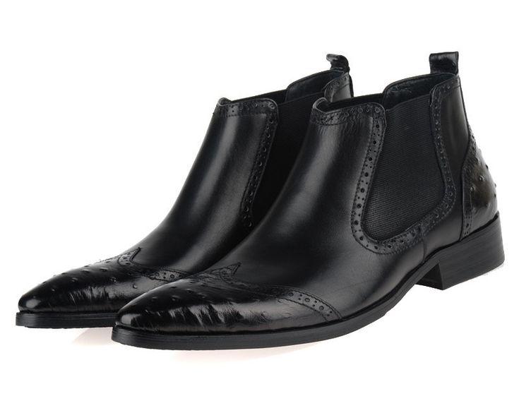 TOP Quality newest fashion brown tan /black mens ankle bo...