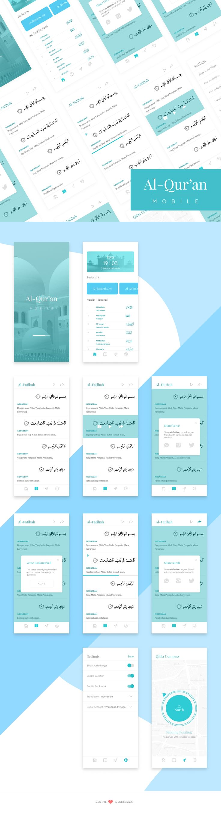 UI Mobile Design for Al-Qur'an Mobile