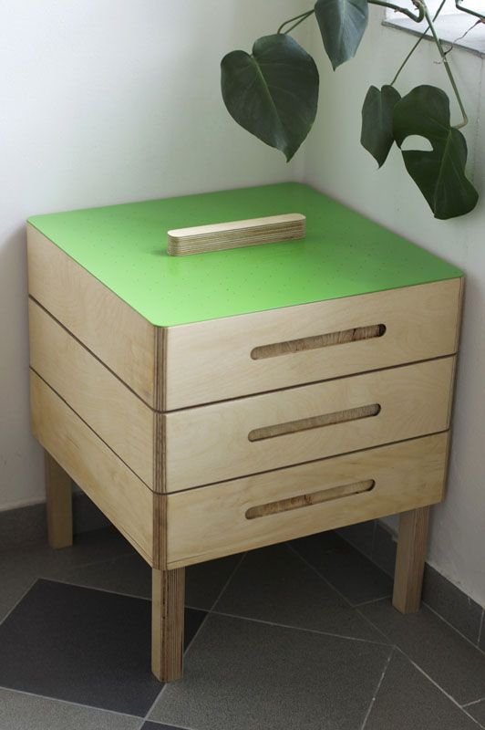 Czech designer wooden vermikompostér, 50x50, price 5800, -
