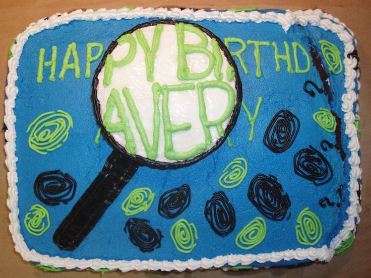 Clever cake for a spy birthday