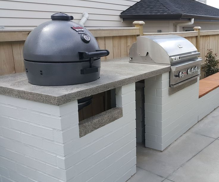 Need an outdoor cooking facility to match your house and outdoor entertaining area? Why not use up left over bricks from a house build (or someone else's house build) and a few bags of instant concrete for a cost effective BBQ setup? Once the concrete is polished and sealed it becomes very non-porous and food/grease just wipes right off.This makes it a healthy cooking surface and is extremely durable over time.Materials- A BBQ or two (or three)- Bricks. Either source the type/co...