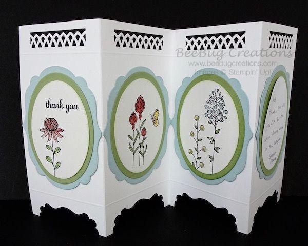 Stampin' Up! Screen Card, Flowering Fields stamp set