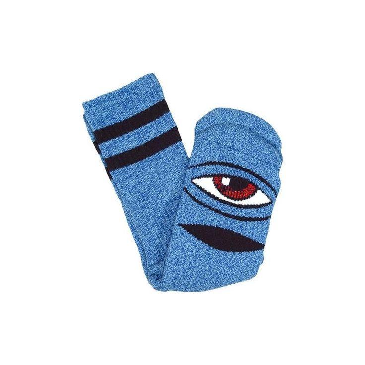 Toy Machine Sect Eye Heather Blue Sock - Sickboards