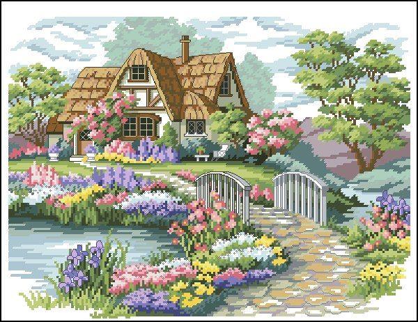 schema+punto+croce-Charming_Cottage.jpg (600×462)