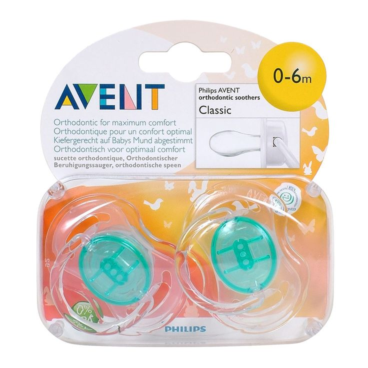 Philips AVENT Soother 0-6Mth Translucent 2 Pack | Babies R Us Australia