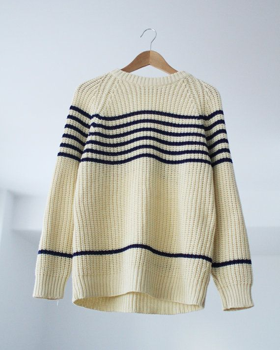 Vintage Esprit Mariniere Stripe Sweater Medium par PrettyColourful, $44,00
