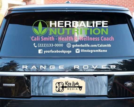 Herbalife Nutrition Large Vinyl Car Decal Advertise While