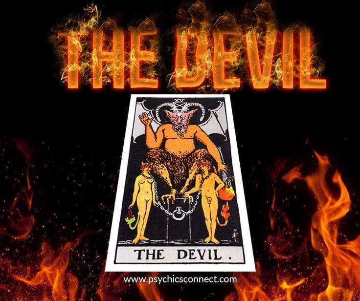 The Devil - Subordination - Ravage - Bondage - Malevolence - Subservience This card often indicates a period of oppression, a heaviness hanging over you, a feeling of being unable to break free from current environment or relationship. As indicated in the card, it shows two people going in two very different directions, the break should have occurred a long time ago, note the noose around their necks are loose enough to slip off.