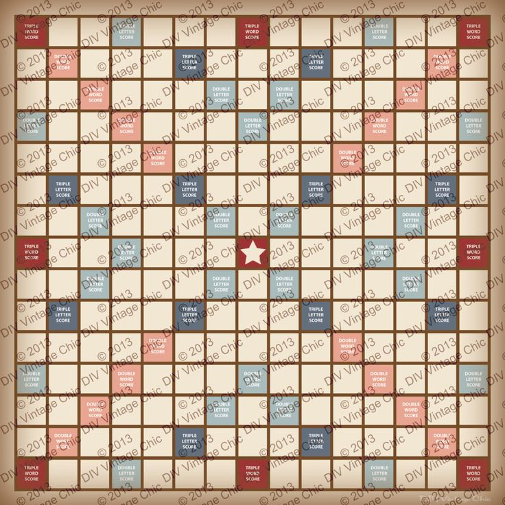 Scrabble Board - Printable JPG file by BeccaCreative on Etsy https://www.etsy.com/listing/220320259/scrabble-board-printable-jpg-file