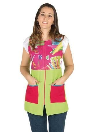 Resultado de imagen para uniformes modernos para maestras de preescolar