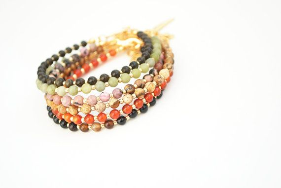 Friendship bracelet gemstone bracelet stone by elfinadesign