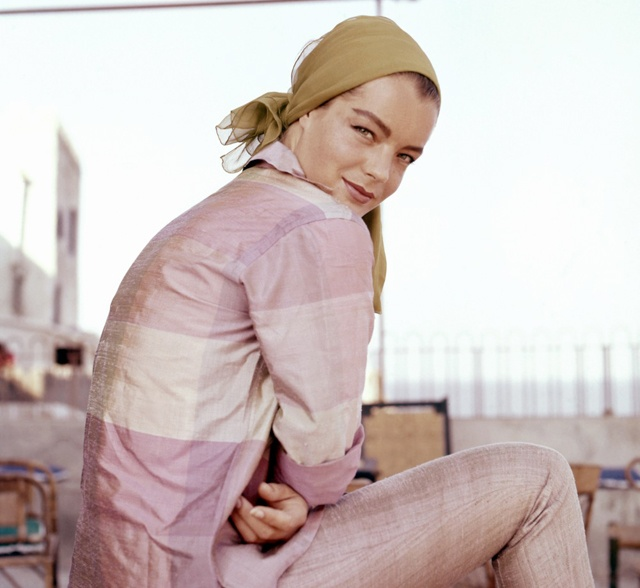 Romy Schneider - Austrian-born actress and muse to Orson Welles who shot to fame via the 1950s Sissi trilogy. http://fashionfix.net-a-porter.com/magazine/icon-romy-schneider