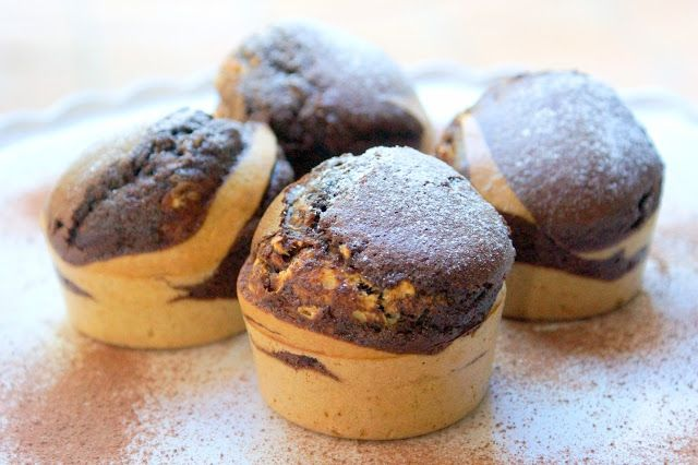 Bienvenue chez Spicy: Muffins marbrées à la farine complète et huile de ...