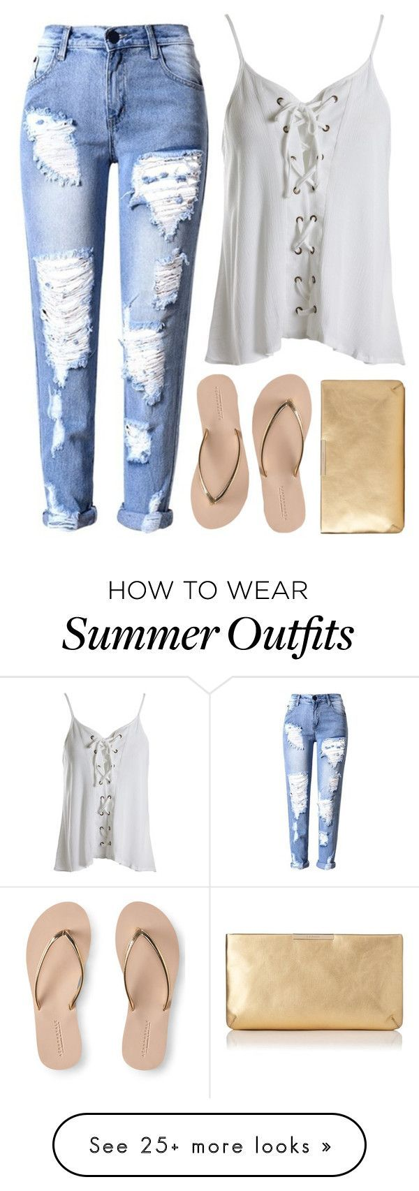 Summer Outfits : Untitled #148 by brittany-phelps on Polyvore featuring Sans Souci AÃropost