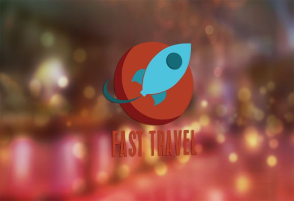 Fast Travel Logo D by Florin Chitic on Creative Market