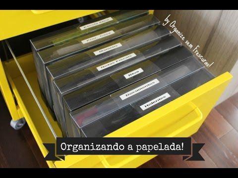 Como organizo a minha papelada e dicas para você organizar a sua. Validade dos documentos: http://www.organizesemfrescuras.com/2012/08/por-quanto-tempo-devo-...