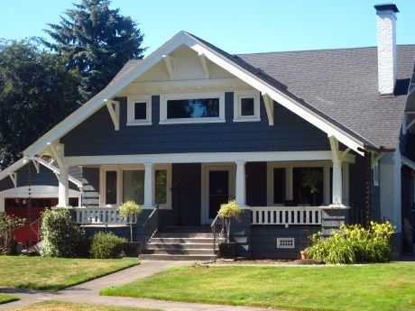 1920's Bungalow. Big front porch with a swing, lots of clean lines and woodwork.