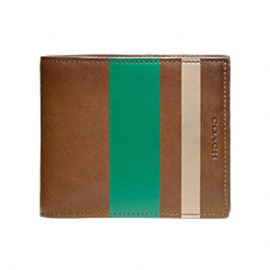 $138 BLEECKER LEGACY PAINTED STRIPE COMPACT ID WALLET--Because sometimes you want to give to someone else's pocket