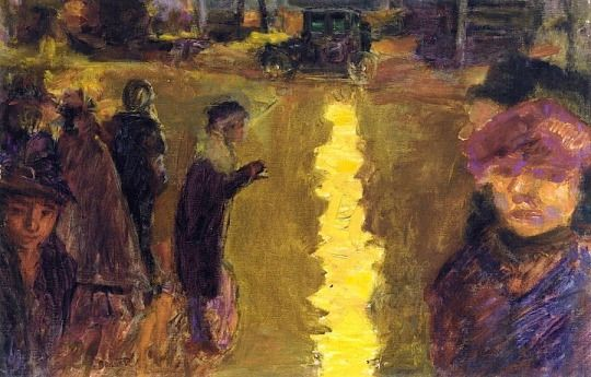 Pierre Bonnard (French, 1867-1947) - Street Scene, Paris, 1918