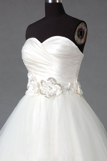 Tailor-Made 'Eternal' Wedding Dress £359.99 Sizes 6-22 available + 'custom-size' Choice of 100 colours Beautiful waist detail Satin, Beading, Diamante's & Jewells Please Allow 60 days to receive @ http://www.bespokebridaluk.com
