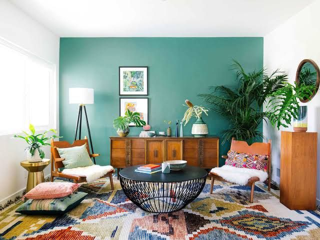 Bedroom Setups With Mismatched Furniture Google Search Accent Walls In Living Room Indian Living Rooms Simple Living Room