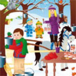 Jeu Cherche et compte… à la cabane à sucre - Activités - Coloriage et jeux en ligne - Jeux à imprimer - Mamanpourlavie.com
