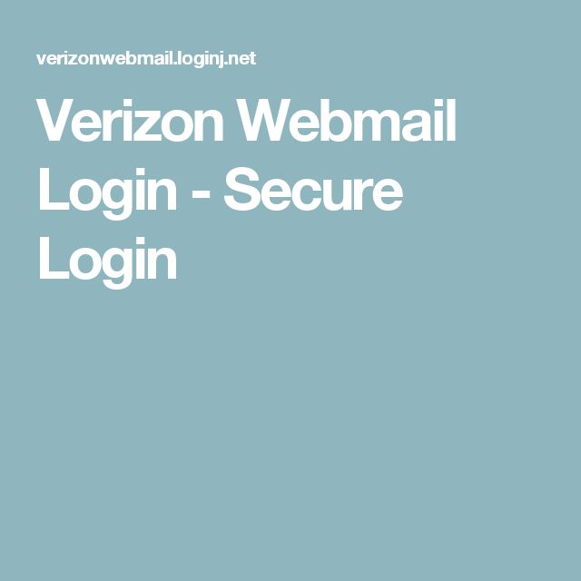 Access the Verizon Webmail Login area and sign in details here ...