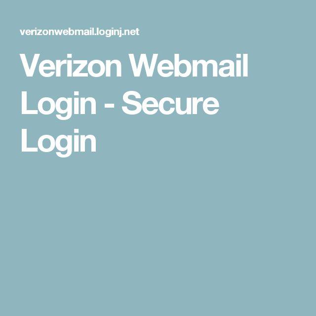 Verizon Webmail Login - Secure Login