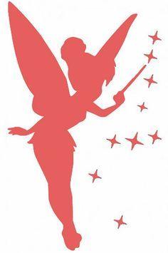 Image result for silhouette de fée clochette à imprimer