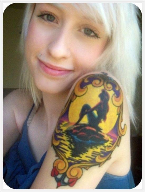 30 Beautiful Examples of Mermaid TattoosTattoo Ideas, Little Mermaids, Little Mermaid Tattoos, Disney Tattoo, Tattoo Piercing, The Little Mermaid, A Tattoo, Shoulder Tattoo, New Tattoo