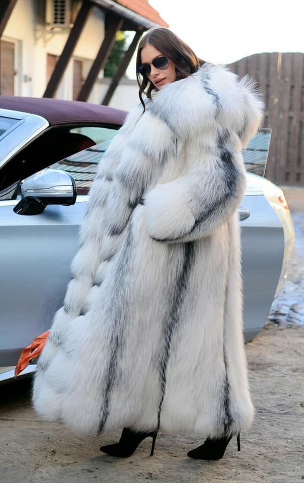 Fox Coat Long Fur Coats, White Fox Fur Coat Outfit