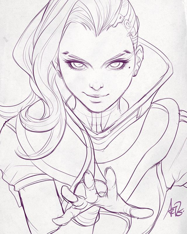 Yes, know...;). Anyway it is a good reason to add to my existing Overwatch art series. Maybe I can livestream the coloring of this. It has been a while. :) #sombra #overwatch