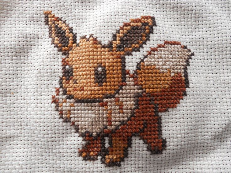 Eevee Cross Stitch by Mickeycricky.deviantart.com on @deviantART