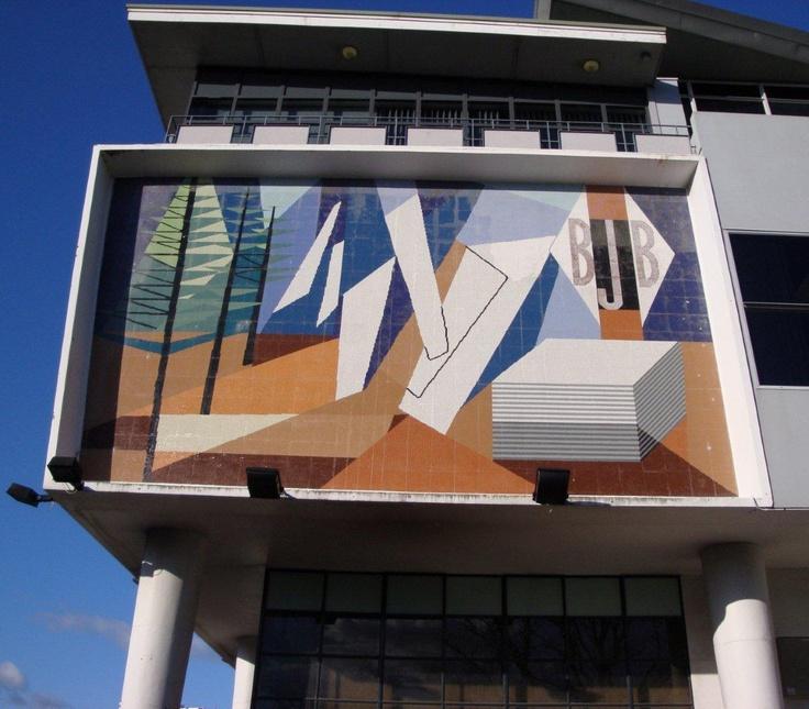 BJ Ball mural by Milan Mrkusich