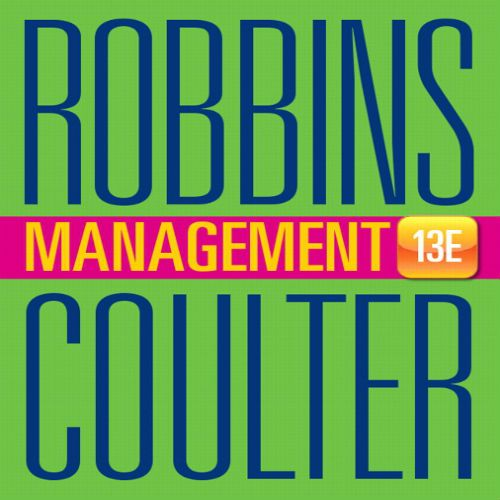 Management robbins coulter pdf